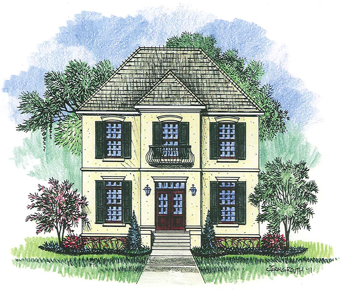 Landcraft Homes Plans & Renderings on country home house plans, french house floor plans, home narrow lot house plans, french style house plans, 6 bedroom country floor plans, new orleans french quarter floor plans, zero lot line building,